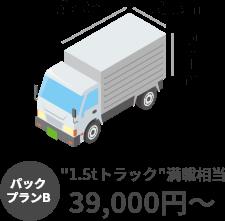 パックプランB 1.5tトラック満載相当 39,000円~
