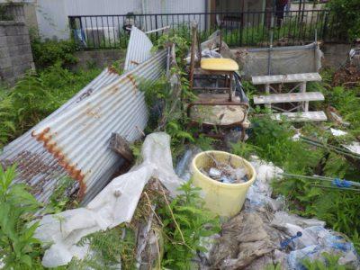 屋外の不用品回収